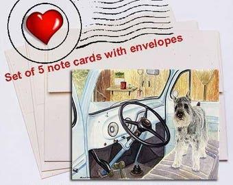 Let's Go, Schnauzer Note Card Set
