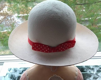 1f13e3ffec2 Hat   Tina Too   Straw w  Red Ribbon and Bow