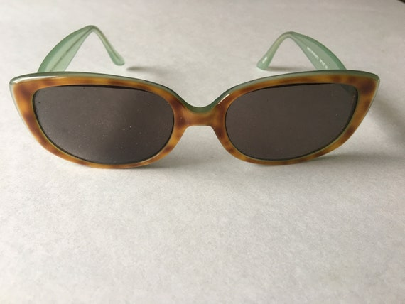Sunglasses Jean Patou Paris Green Tan Vintage