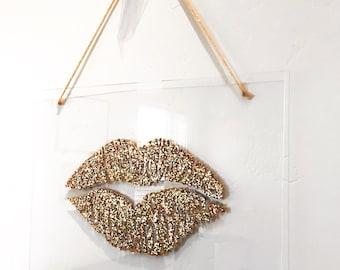 Lips Painting on Acrylic