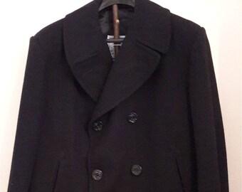 Vintage Mens Navy Pea coat