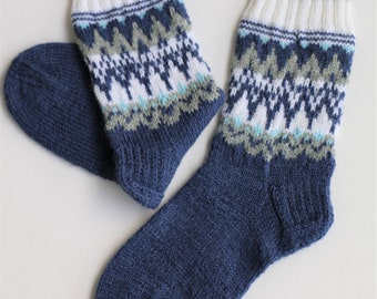 c047b70c06c00 Scandinavian style wool socks Men's wool knit Socks, Cozy Socks, Blue Socks,  man Socks, Gift Socks, Cute Warm Socks, Wool Knit Socks