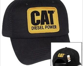 8e722c27 Caterpillar Diesel Power CAT Equipment Vintage Black Mesh Retro Style Cap  Hat