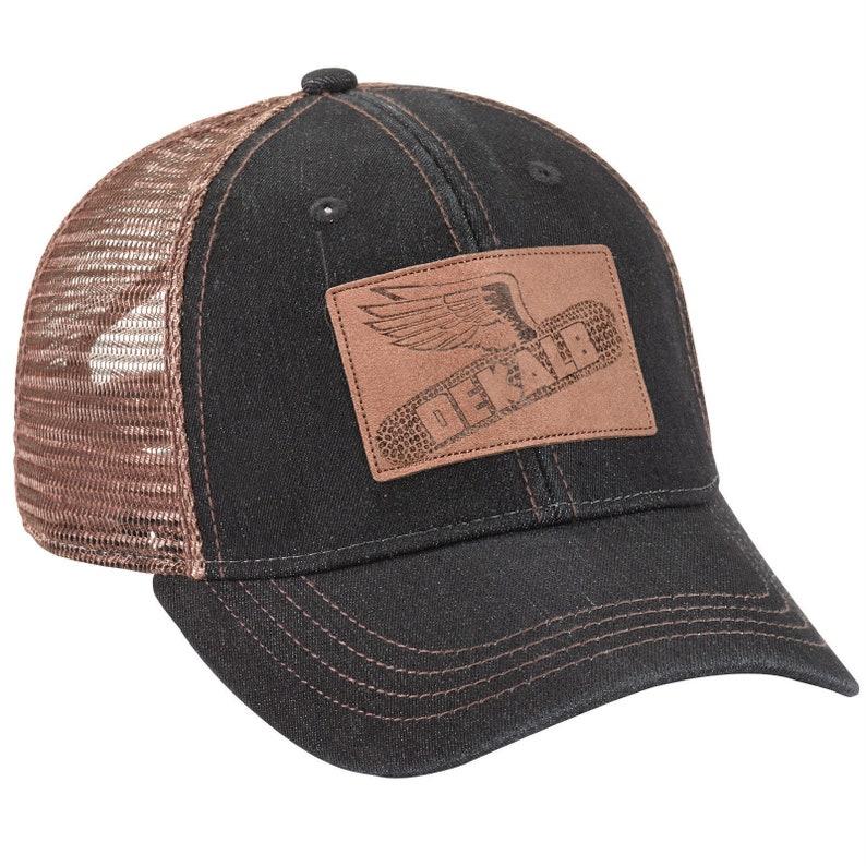 b7ed17b1d9060 DEKALB SEED Denim Vintage Trademark Farmer Logo Cap Hat New