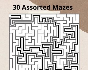 30 Maze Puzzles.