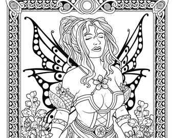 The Fairies Of The Forest Adult Colouring Book