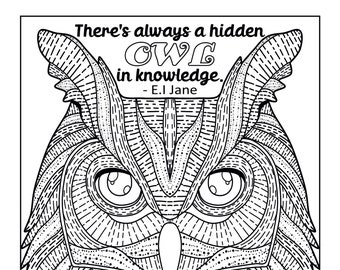 Wise Old Owls. A Colouring Book.