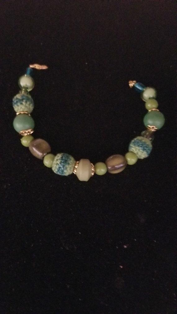 Handmade Bead Bracelet Green