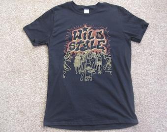 7adf1f74 Wild Style Men's 1980's Movie Retro T-Shirt New York Graffitti Breakdancing Hip  Hop MTV Fab 5 Freddy South Bronx Nas Beastie Boys Blondie