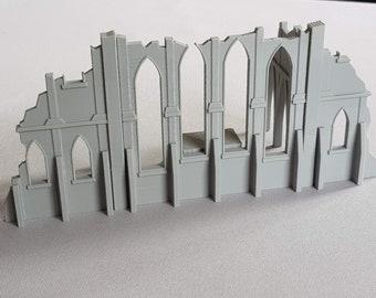 Warhammer 40K Wargaming Terrain City Ruins Chapel Set | Etsy