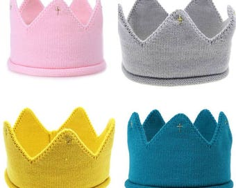 Knitted crown for baby / toddler First Birthday Party