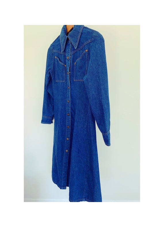 Vintage 70s Denim Shirt Dress