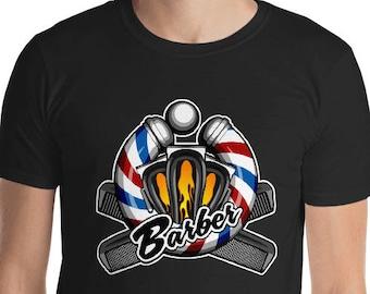 Barber Shirt, Barber Pole Shirt, Barber, Barber Shop Shirt, Hair Clipper Shirt, Barbershop Shirt, Flaming Hair Clipper Shirt, Barber Gift
