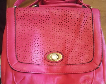 Pink over shoulder bag