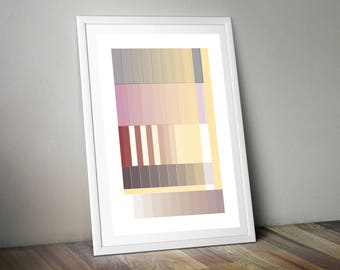 Yellow and Pink Gradient Poster Print