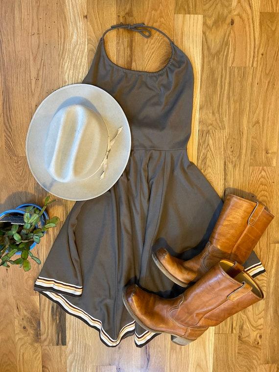 1970's vintage halter wrap dress