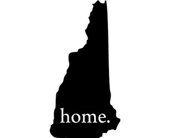 Vinyl Decal Outdoorsy Sticker Bumper Sticker Illustrated State New Hampshire Weatherproof New Hampshire Outline Durable Sticker