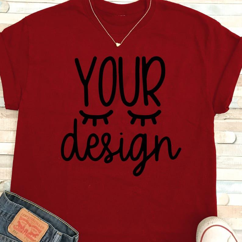 435267c033be28 Mock up maglietta rossa rossa t-shirt il vostro disegno qui | Etsy