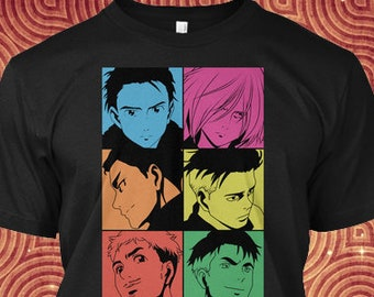 Yuri on Ice Shirt with a Characters Designs of YOI in a Unisex T-shirt Gift for Otaku Lovers of Anime Series