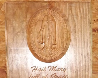 Our Lady of the Rosary - Hail Mary Prayer - Carving
