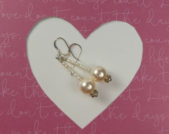 Pearl and Sliver Earrings