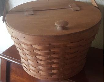 Longeberger Sewing Basket