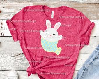 028b39c4 Bunny svg, Mermaid bunny svg, Merbunny, svg file, easter bunny cut file,  spring svg, bunny silhouette, digital