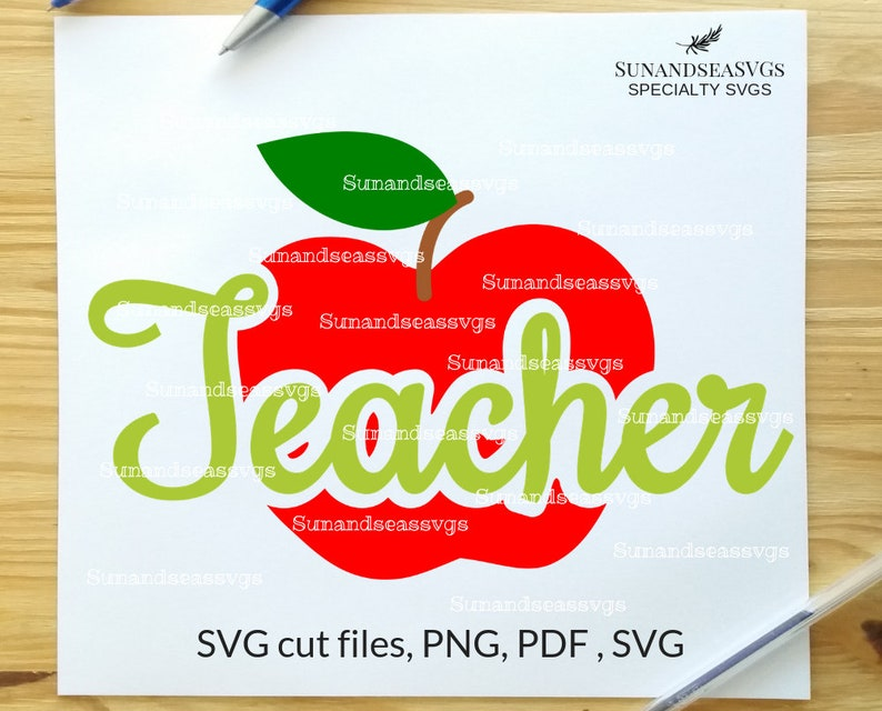 Teachers Apple Svg Teacher Svg Files School Teacher Svg Etsy