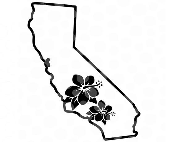 California SVG Vector Map State