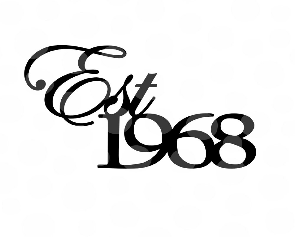 50th birthday svg est 1968 svg 50th birthday sayings 50 etsy