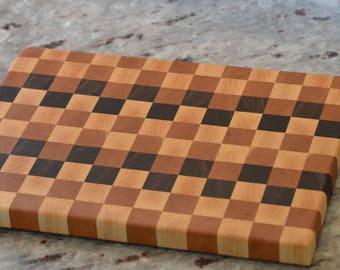 Walnut, Cherry, and Maple End Grain Cutting Board