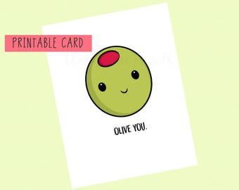 Olive You Berry Much Valentines Day Card Anniversary Card Etsy