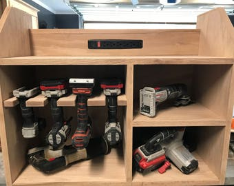 Power Tool Charging Station | Power Tool Organizer | Drill Storage | Tool Cabinet