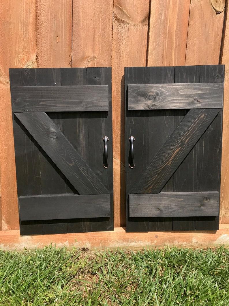 Black Barn Door Shutter Wall Decor Z Bar Shutters