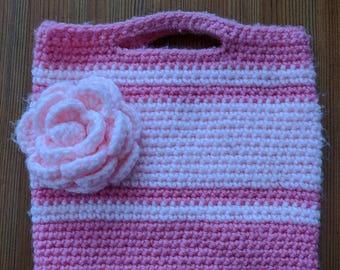 Crochet girls handbag