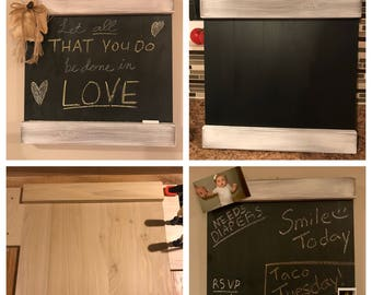 All-Wood Rustic Chalkboard Sign