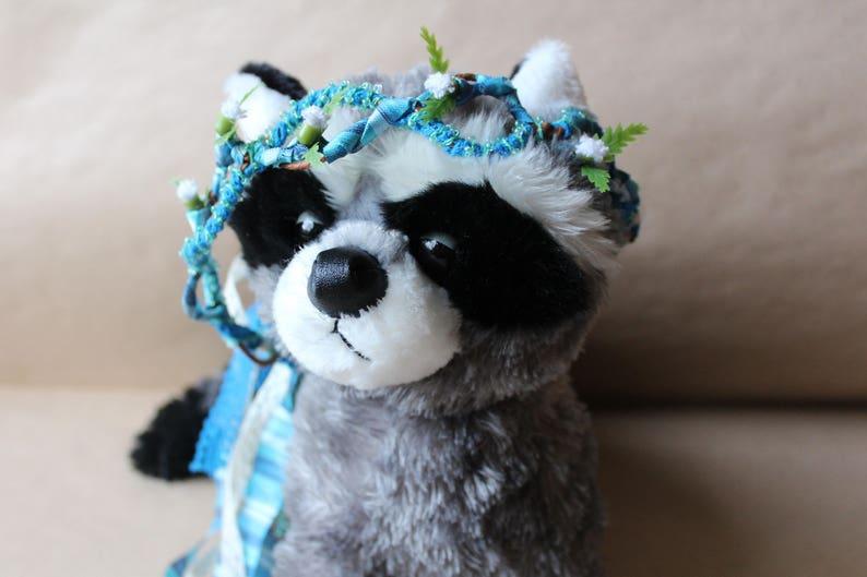 Child Size  Toddler Headband  Circlet  Flower Crown  Baby Headband Blue Lace Flower Headband for Portrait Photography