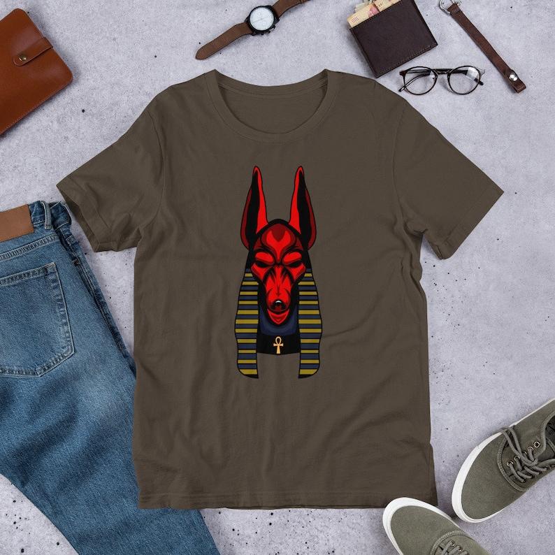 Anubis Osiris Dog Jackal Head Ancient Egypt Short-Sleeve Unisex T-Shirt