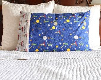 The Little Prince pillowcase, Le Petite Prince pillowcase, The Little Prince gift, handmade pillowcase, standard pillowcase