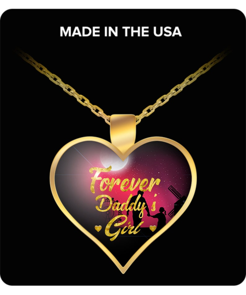 Ladies Gift Forever Daddy/'s Girl Gold Plated Necklace  Silver Necklace  Daughter/'s Gift