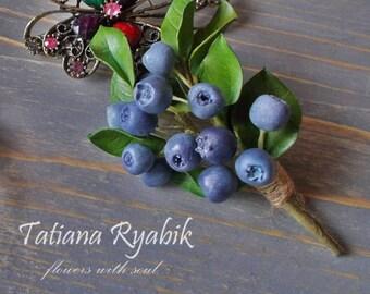 """Brooch """"blueberry"""""""