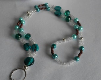 Turquoise button necklace