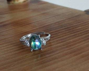 Blue/green glass ring