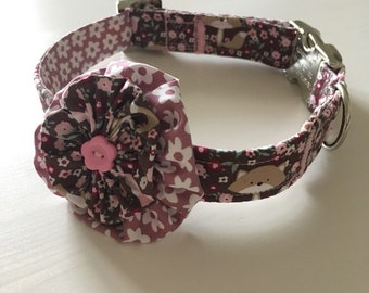 Frolicking Foxes Collar and Flower