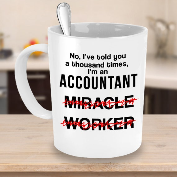 Funny Novelty Souvenir Gift For Accountant Jokes Miracle Etsy