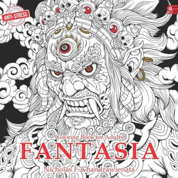 Fantasia Serene Coloring Book By Nicholas F