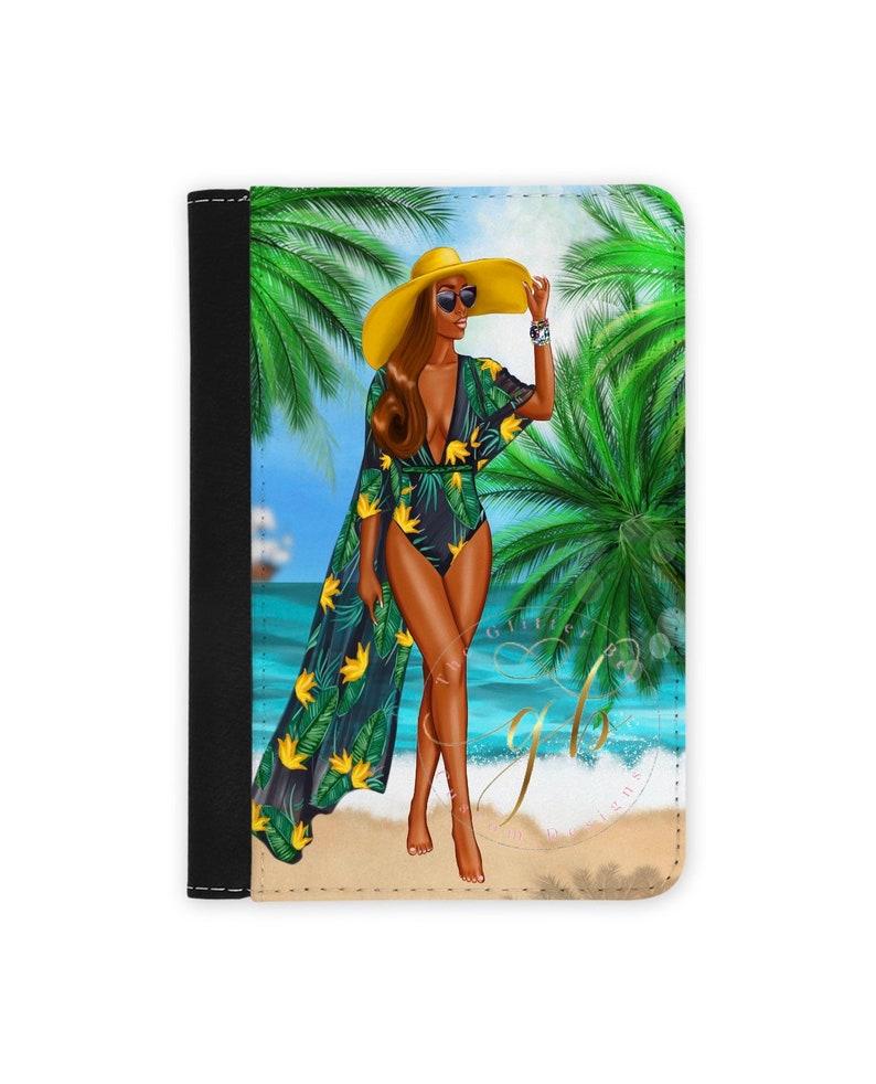 passport Travel Bae- Catch flights travel gifts- passport holder for women Passport cover- Passport holder- Black woman passport cover