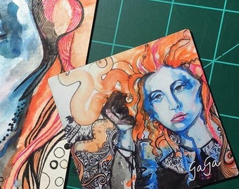 Lady Gaga Watercolor Magnet from watercolor