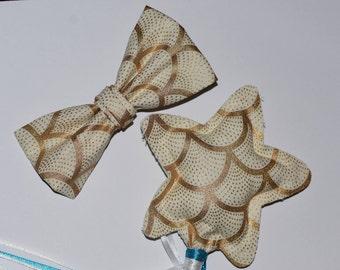Mermaid matching wand & bow set