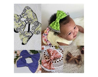 5 listings of fabric bows